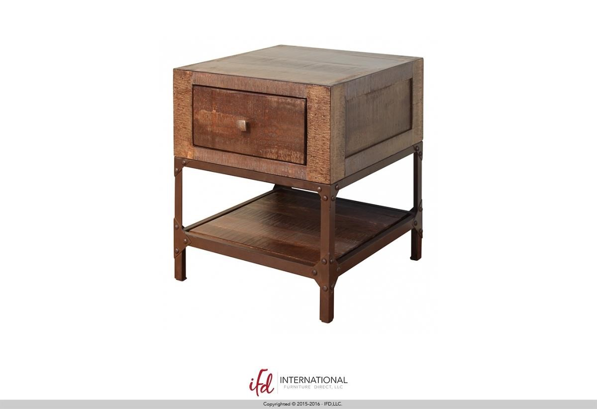 Charmant International Furniture Direct Urban GoldEnd Table With 1 Drawer ...
