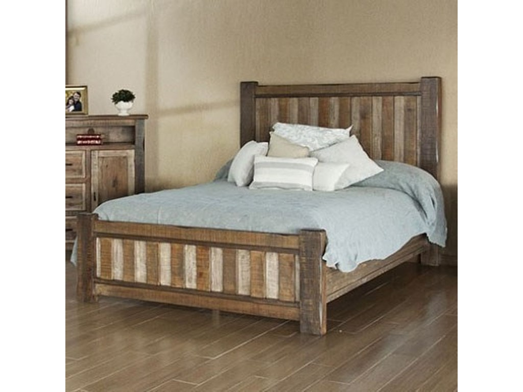 International Furniture Direct Veracruz Rustic Queen Low Profile Bed