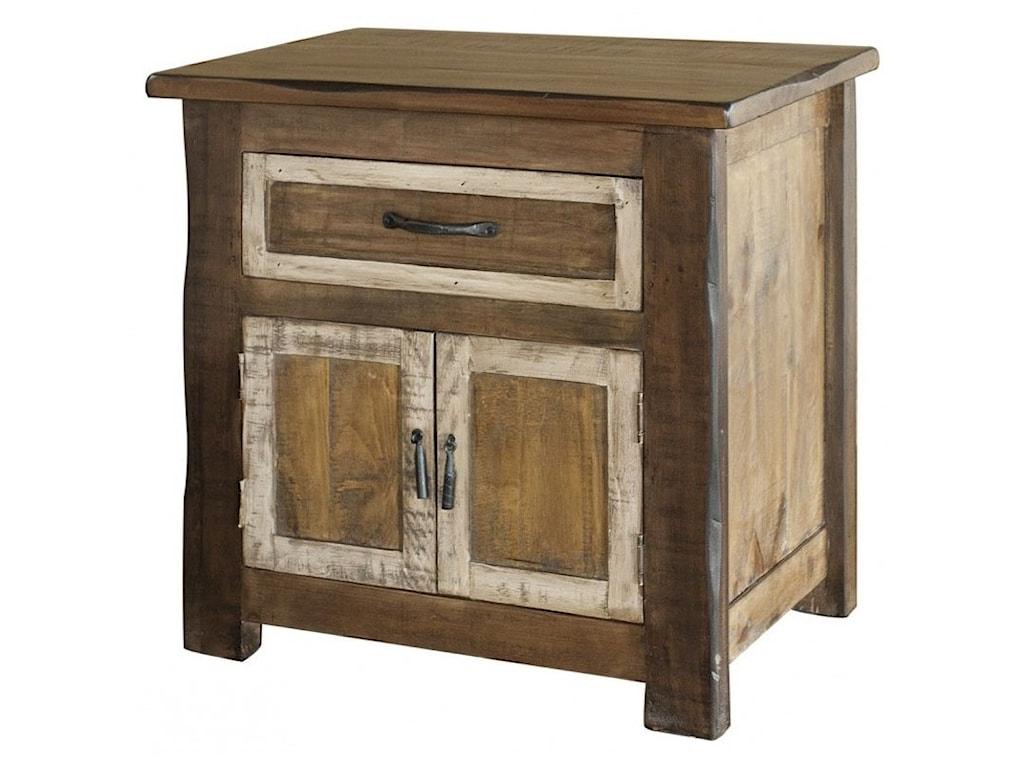 International Furniture Direct Veracruz1-Drawer, 2-Door Nightstand