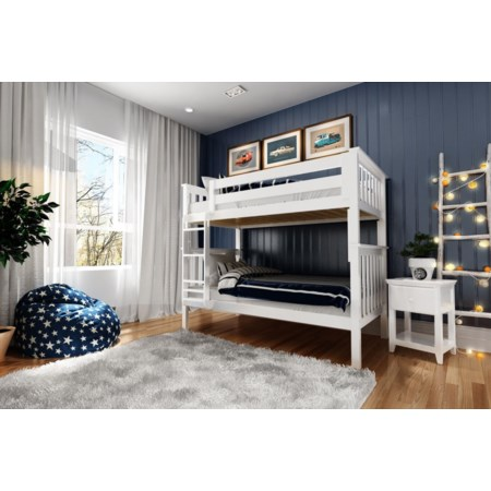 Bristol Twin/Twin Bunk Bed in White