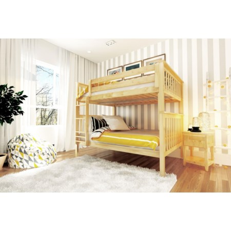 Cambridge Full/Full Bunk Bed in Natural