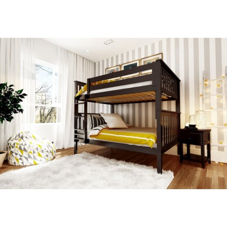 Cambridge Full/Full Bunk Bed in Espresso