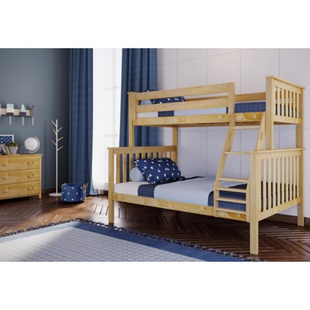 Twin/Full Bunk Bed in Natural