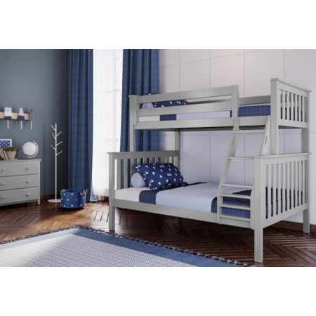 Kent Twin/Full Bunk Bed in Grey