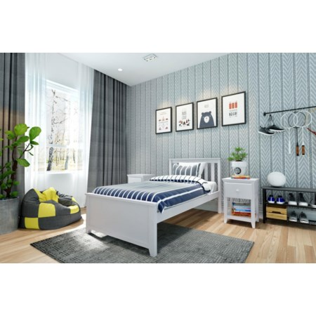 Dublin Twin Single Bed in White