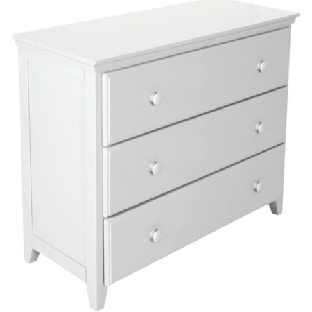 3 Drawer Dresser in White