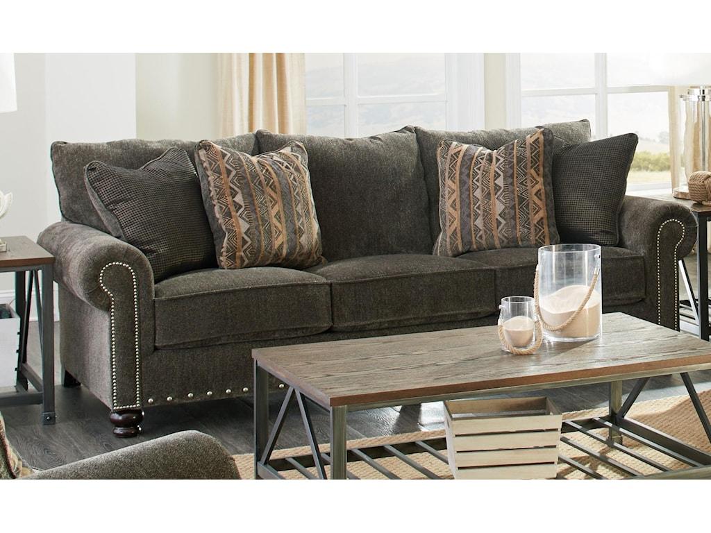 Jackson Furniture Avery 3261 031724 38 2345 2346 08 Brown Sofa