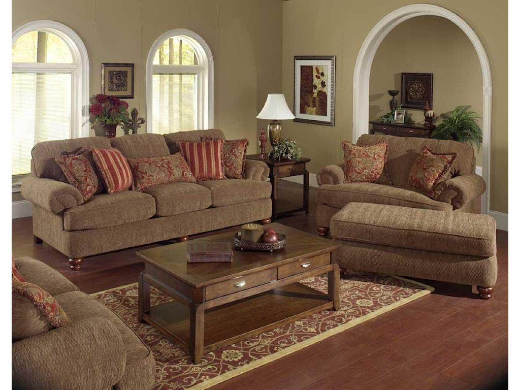 Jackson Furniture BelmontChair and a Half & Ottoman