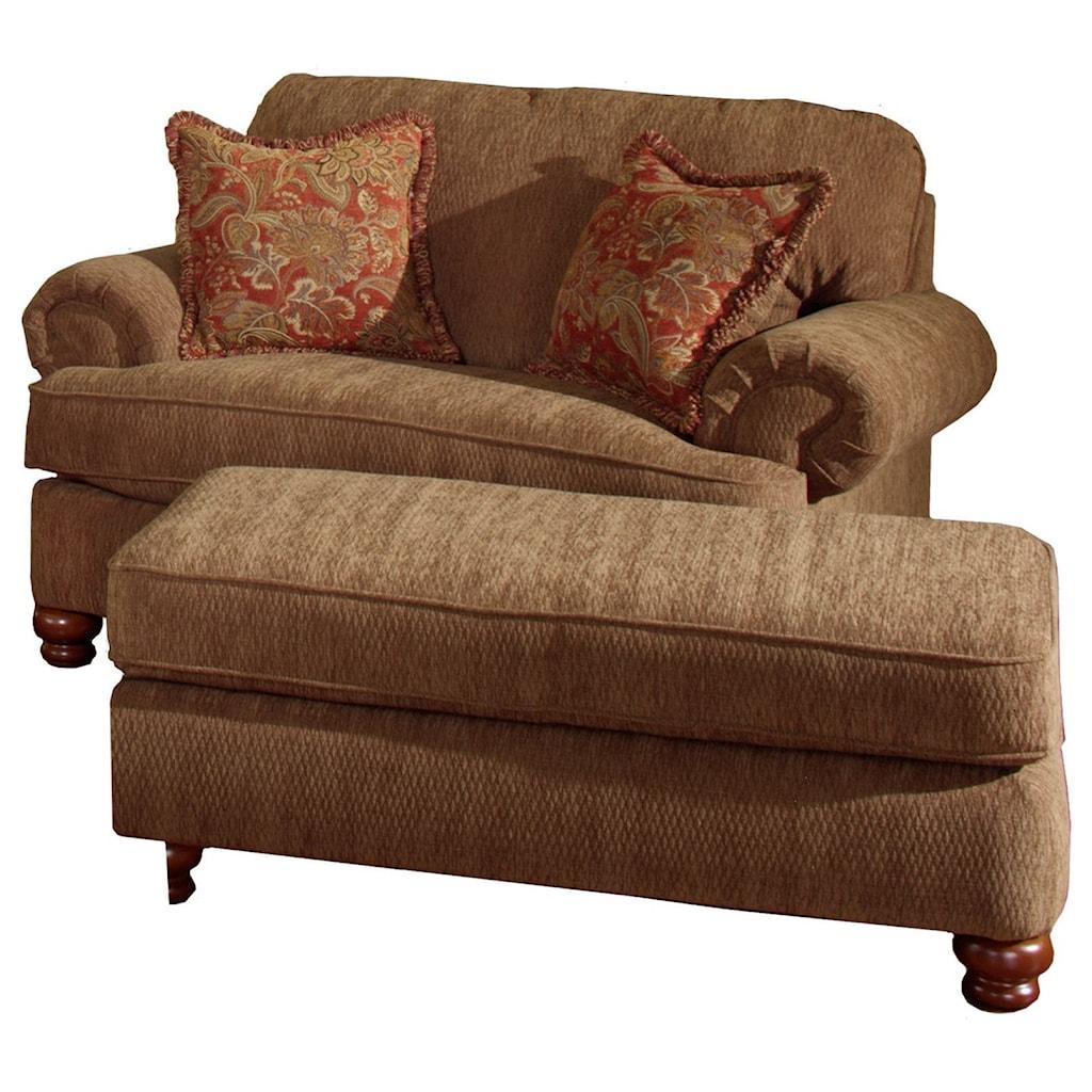 jackson furniture belmont chair and a half & ottoman - zak's fine