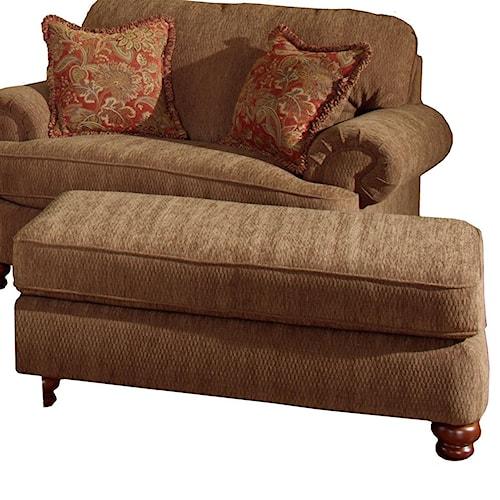 Jackson Furniture Belmont Rectangular Ottoman with Bun Feet