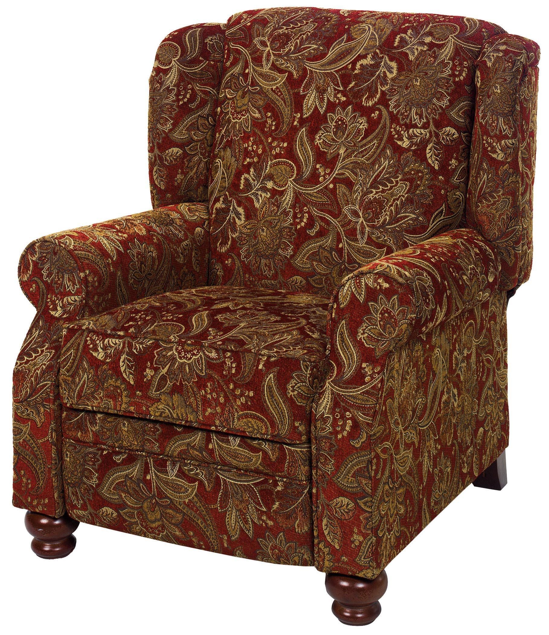 Jackson Furniture Belmont Traditional High Leg Recliner With Turned Wood  Feet   Adcock Furniture   High Leg Recliners