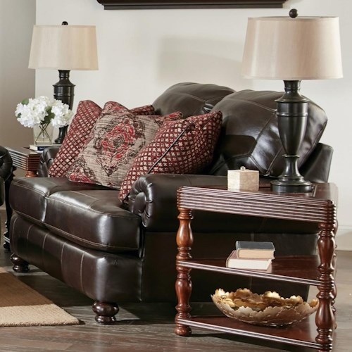 Jackson Furniture Southport Love Seat with Rolled Arms