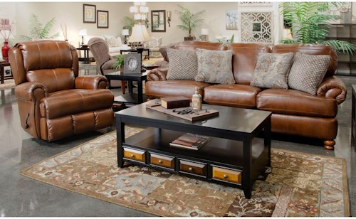 Jackson Furniture Southport Stationary Sofa and Glider Recliner Set