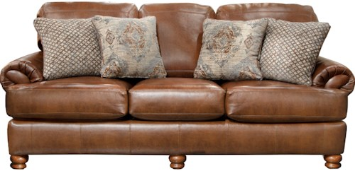 Jackson Furniture Southport Stationary Sofa With Rolled Arm