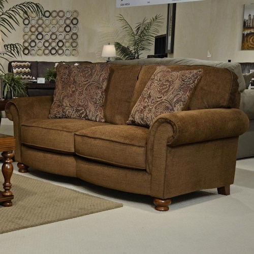 Jackson Furniture Downing Traditional Love Seat with Rolled Arms