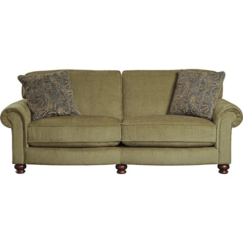 Jackson Furniture Sinclar Traditional Sofa with Rolled Arms