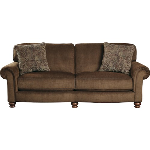 Jackson Furniture Downing Traditional Sofa with Rolled Arms