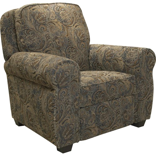 Jackson Furniture Downing Traditional Press Back Recliner