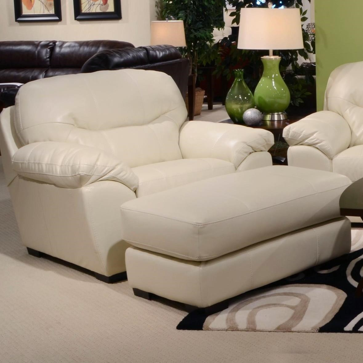 Jackson Furniture Jordan Chair And A Half And Ottoman Set For Living Rooms  And Family Rooms