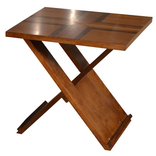 Jackson Furniture 839 Tables End Table with Contemporary Style and Inlay