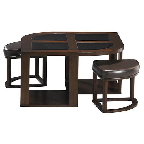 Jackson Furniture 891 Tables Contemporary Cocktail Table with Stools