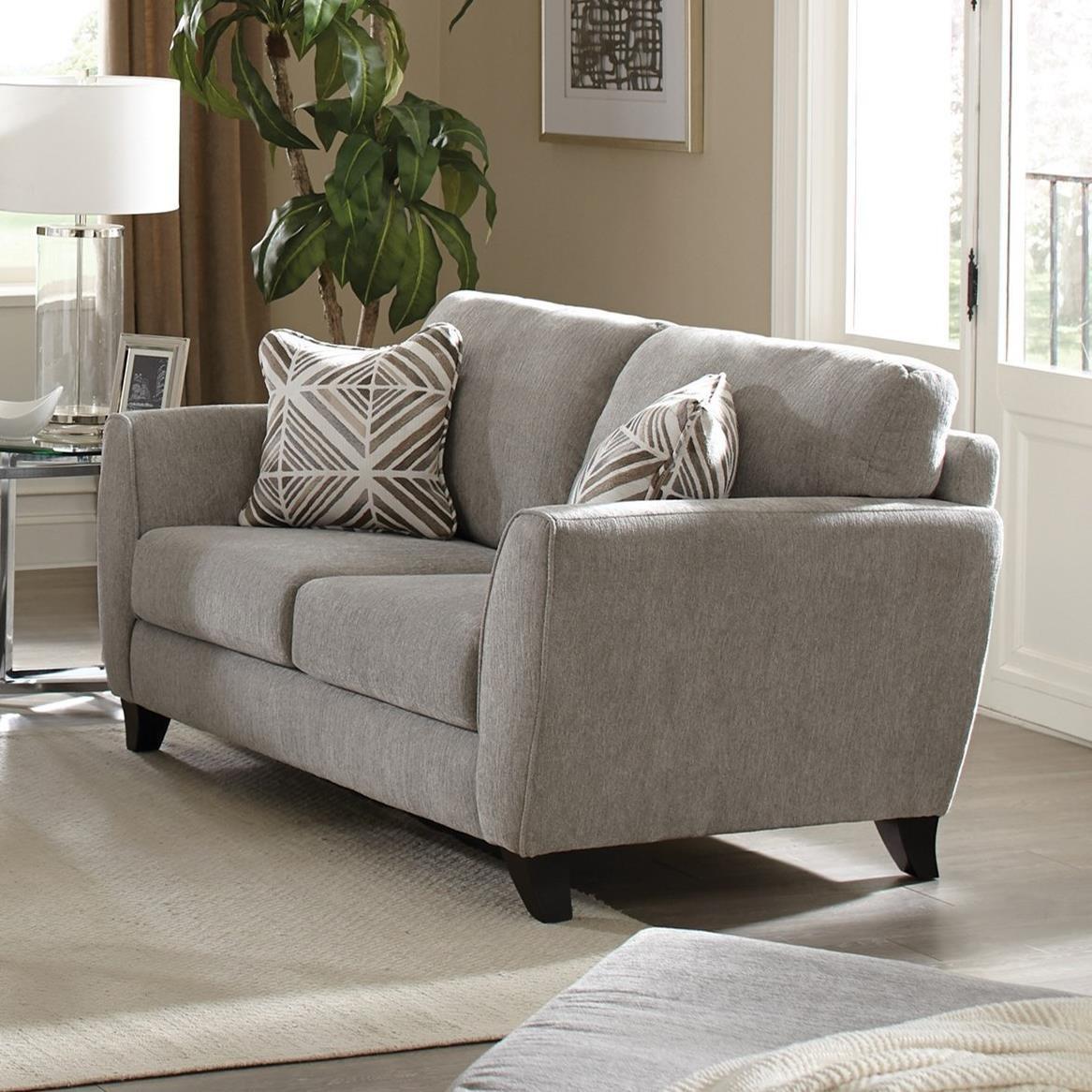Jackson Furniture Alyssa Contemporary Loveseat With Exposed Wood Feet Wayside Furniture Loveseats