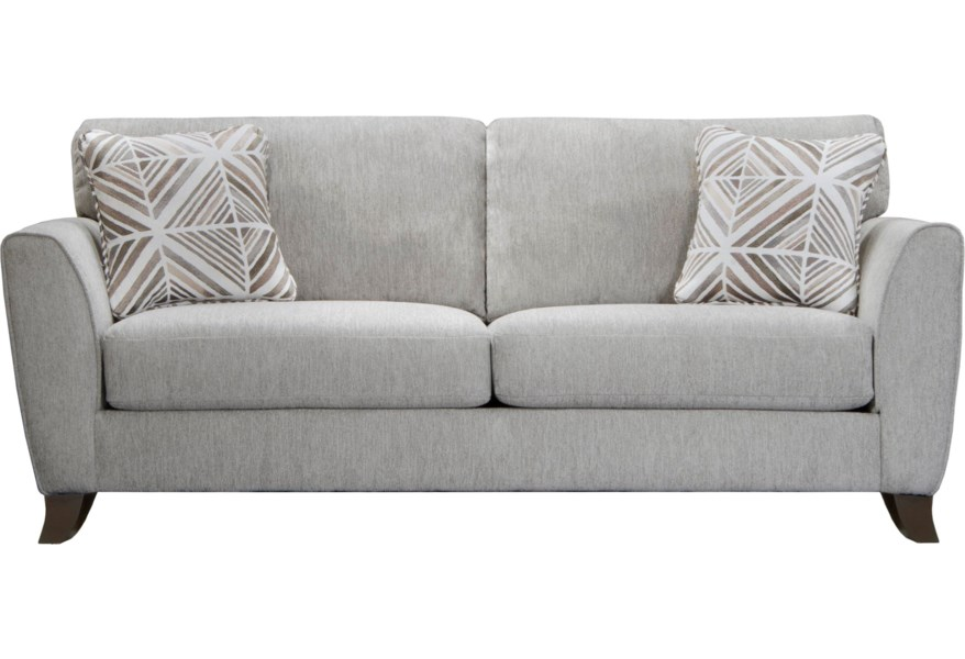 Jackson Furniture Alyssa Contemporary Sofa With Exposed Wood Feet Standard Furniture Sofas