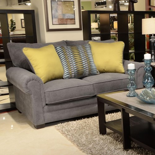 Jackson Furniture Anniston Rolled Arm Loveseat