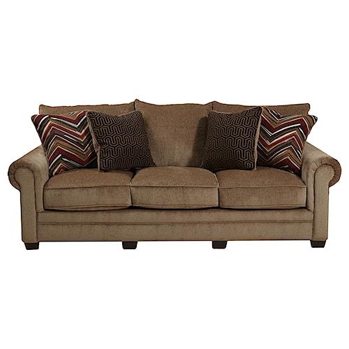 Jackson Furniture Anniston Rolled Arm Sofa