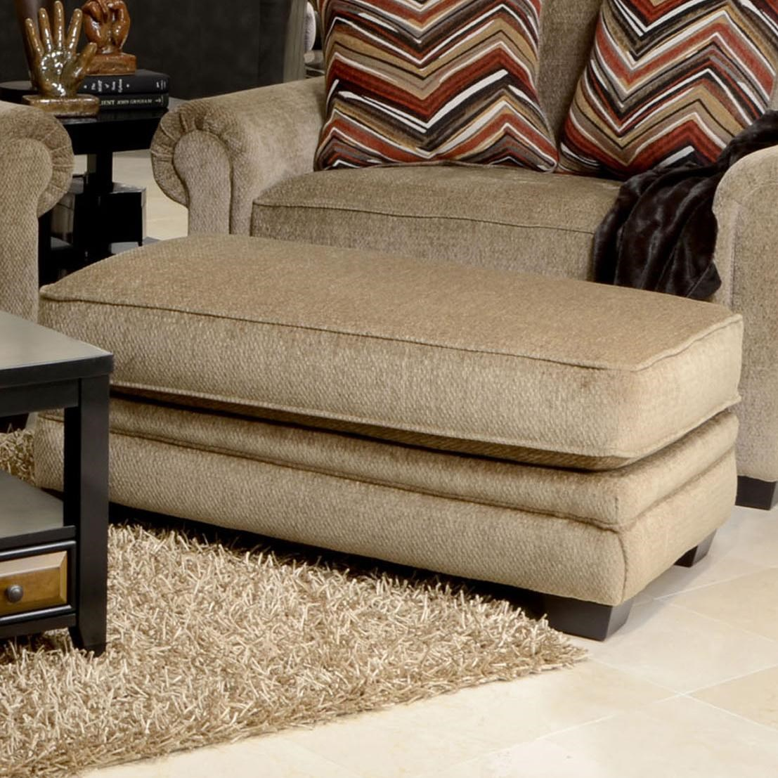 Jackson Furniture Anniston Upholstered Ottoman   Great American Home Store    Ottomans
