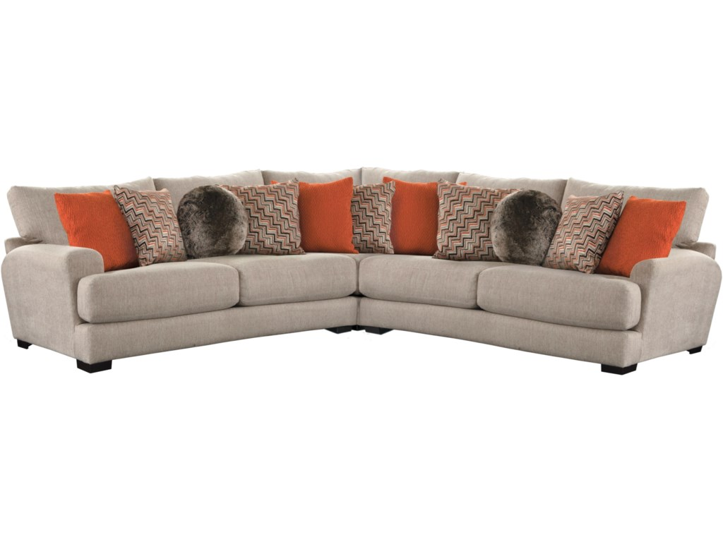 Jackson Furniture AvaSectional Sofa with 4 Seats