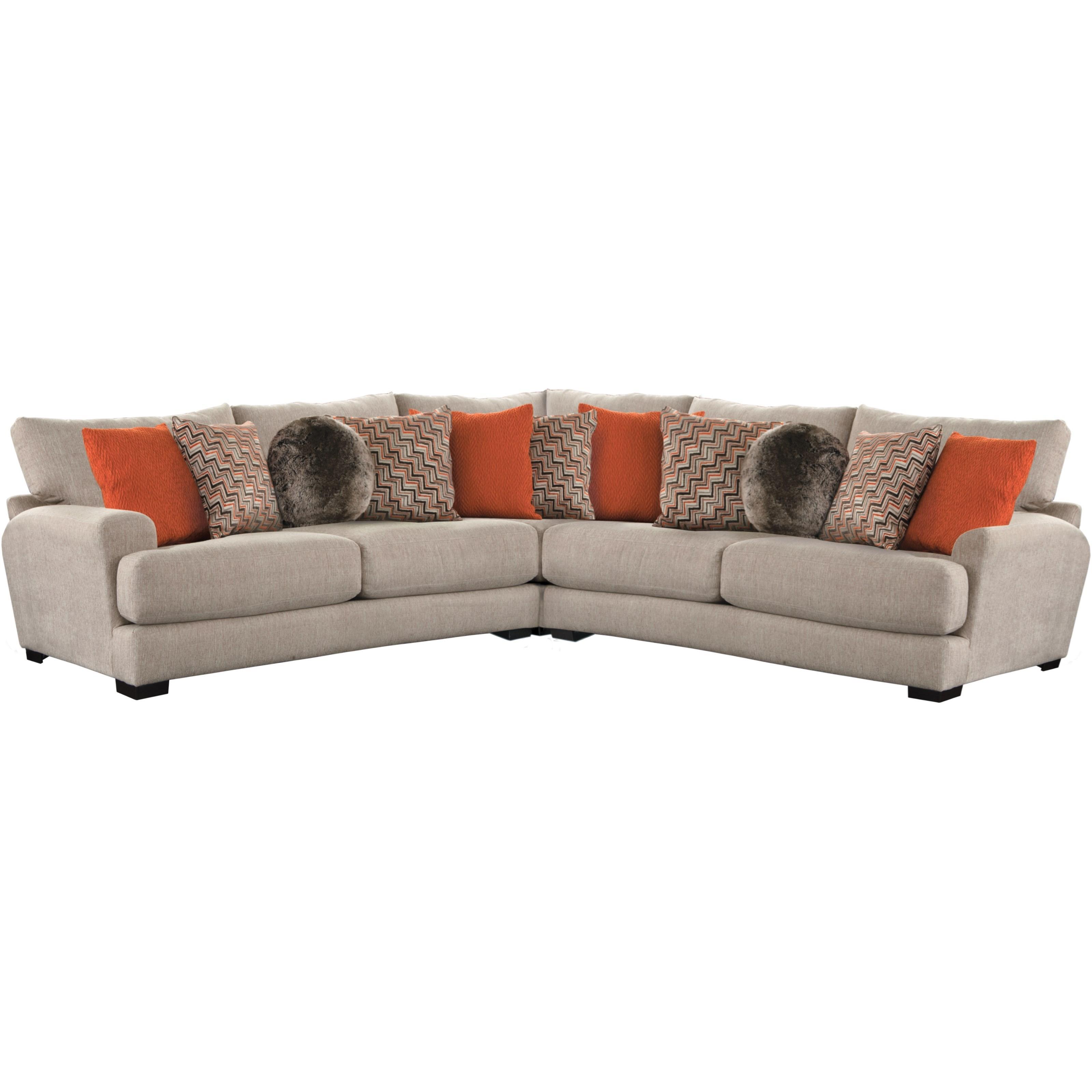 Jackson Furniture AvaSectional Sofa With 4 Seats U0026 USB Ports