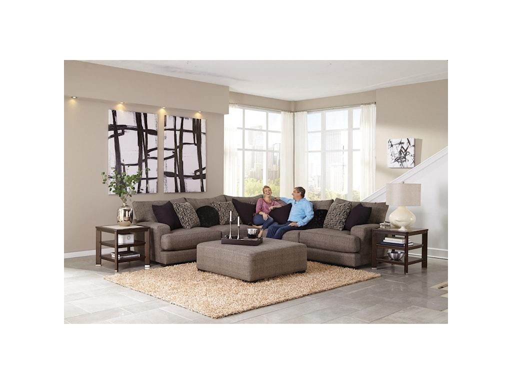 Jackson Furniture AvaSectional Sofa with 4 Seats