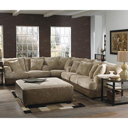 Jackson Furniture Barkley  Large L-Shaped Sectional Sofa with Left Side Loveseat