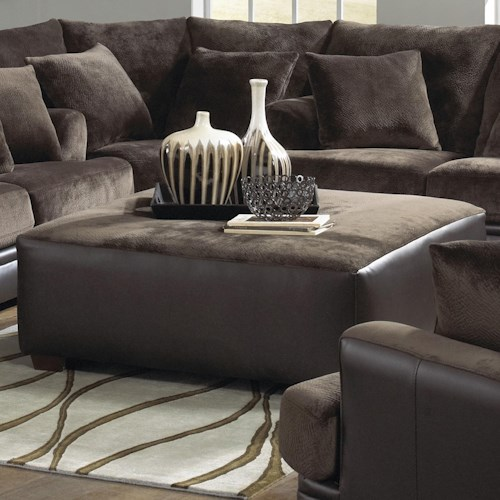 Jackson Furniture Barkley  Large Square Cocktail Ottoman in Contemporary Furniture Style