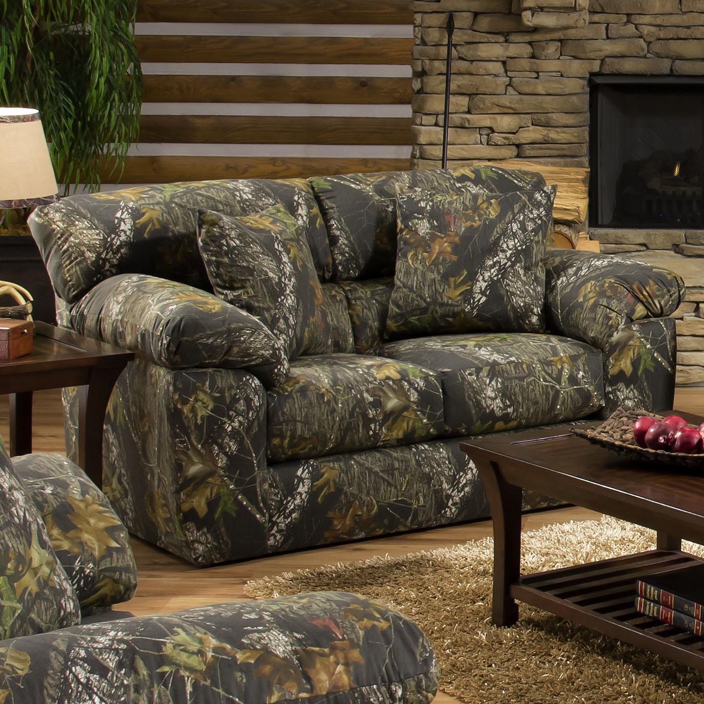 jackson furniture big game camouflage two seat loveseat wayside rh wayside furniture com pink camo living room furniture