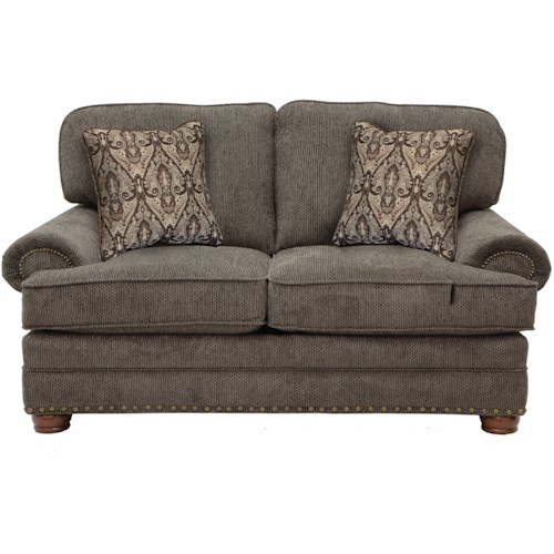 Jackson Furniture Braddock Loveseat with Individually Driven Nail Heads