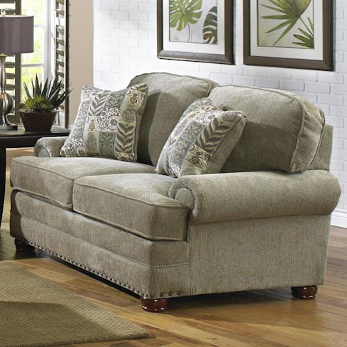 Jackson Furniture Braddock Loveseat With Individually Driven Nail Heads Efo Furniture Outlet