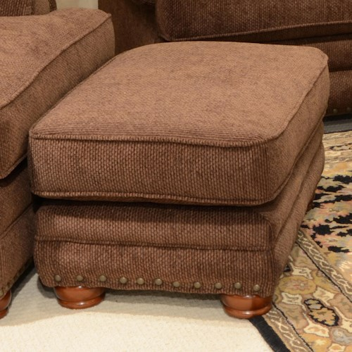 Jackson Furniture Braddock Ottoman with Individually Driven Nail Heads