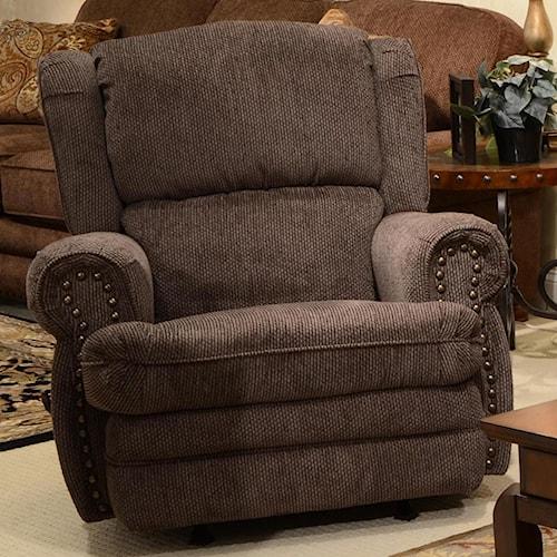 Jackson Furniture Braddock Rocker Recliner with Individually Driven Nail Heads