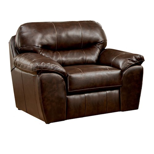 Jackson Furniture Brantley  Plush Upholstered Chair with Pillow Arms
