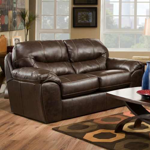 Jackson Furniture Brantley  Contemporary Loveseat with Modern Family Style