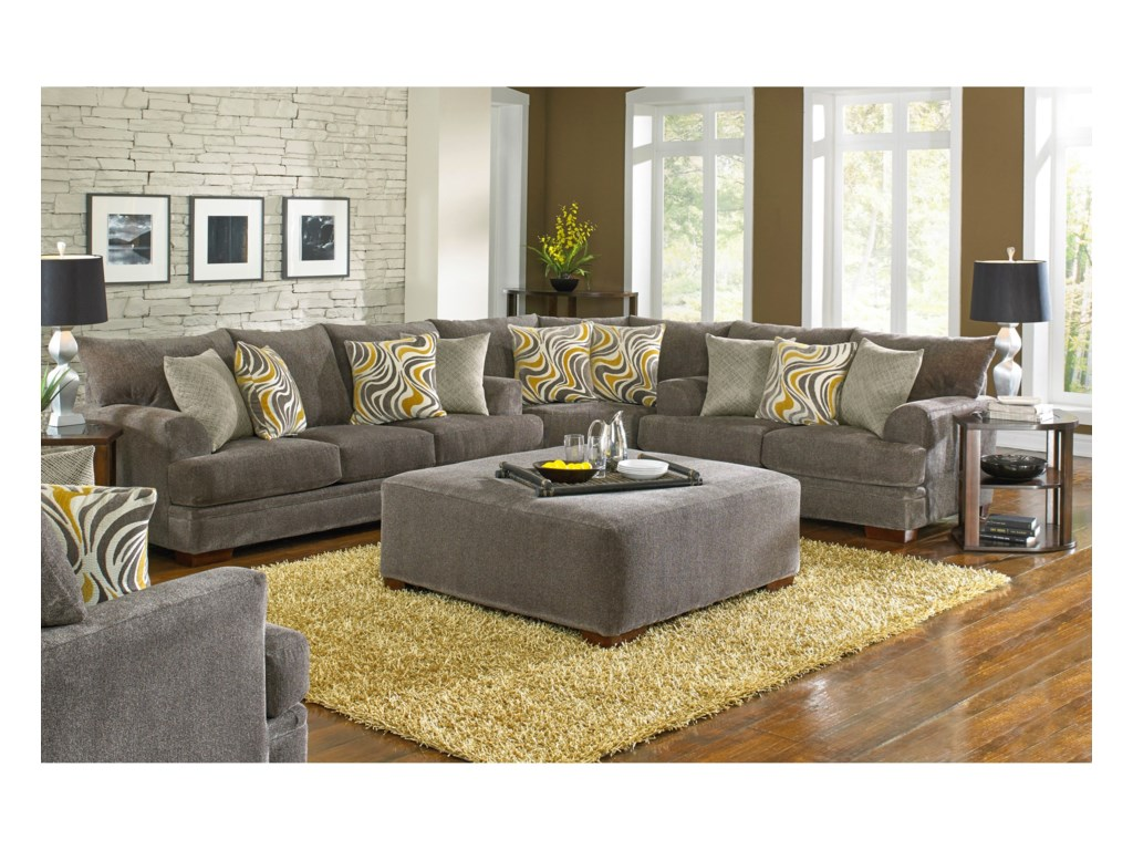 Jackson Furniture Cromptonsectional Sofa With Casual Style