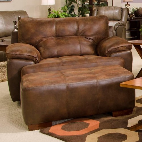 Jackson Furniture Drummond Chair and a Half & Ottoman