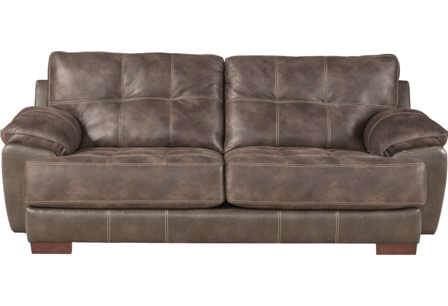 Neil Two Seat Sofa With Exposed Wood Feet By Jackson Furniture At Standard