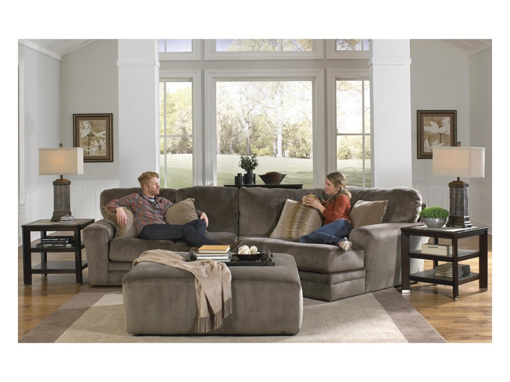 Jackson furniture everest 2 piece sectional with piano wedge