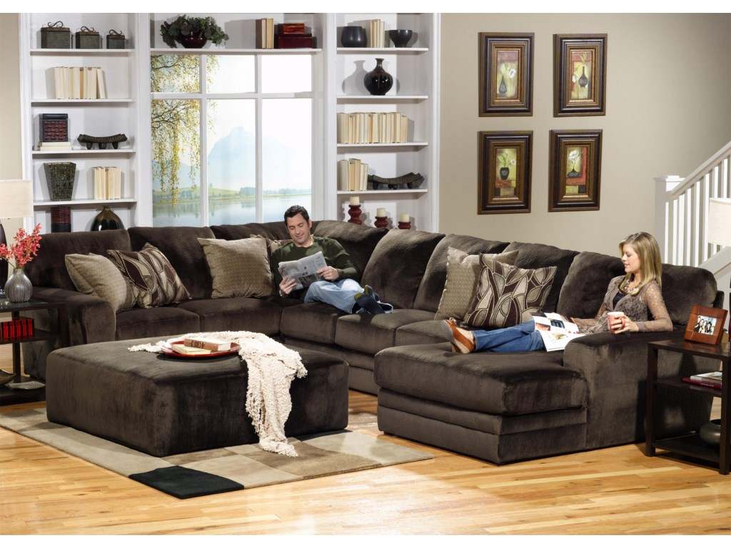 Jackson furniture 4377 everest 3 piece sectional with lsf section household furniture sectional sofas