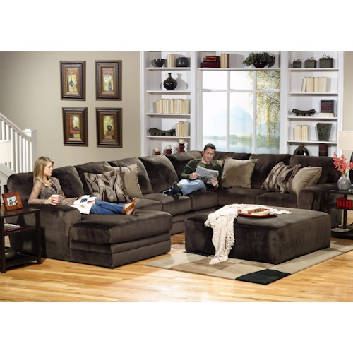 Jackson Furniture 4377 Everest 3 Piece Sectional with RSF Section