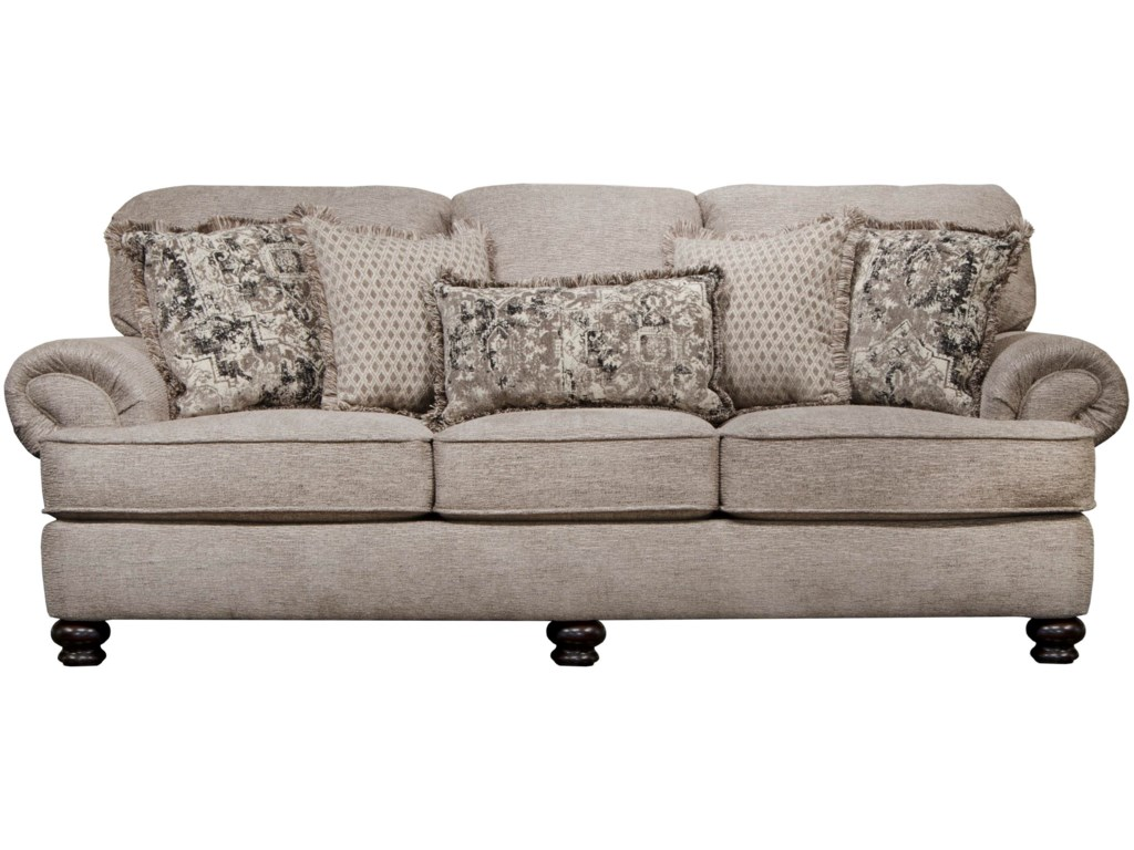 Freemont Transitional Sofa With Solid Wood Legs By Jackson Furniture At Gill Brothers