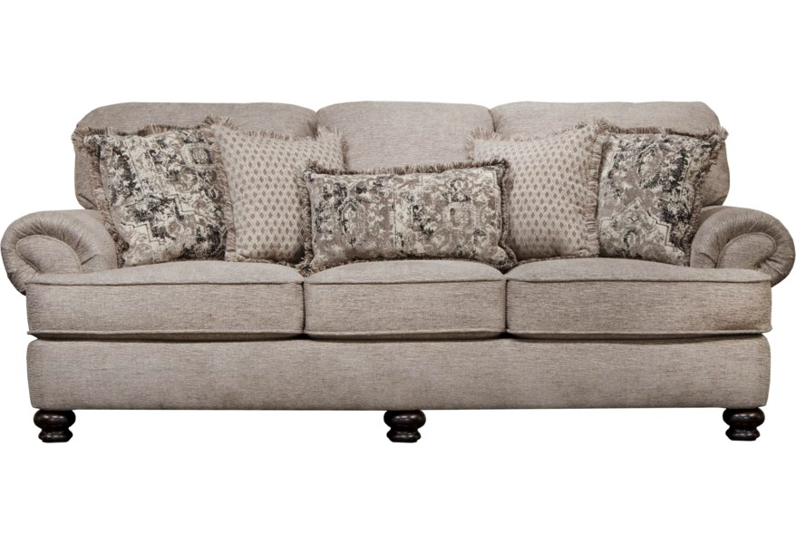Jackson Furniture Frisco Transitional Sofa With Solid Wood Legs Crowley Furniture Mattress Sofas
